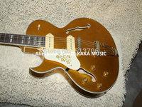 Left handed Guitar Custom ES137 Hollow Goldtop Jazz Guitar Wholesale Guitars HOT