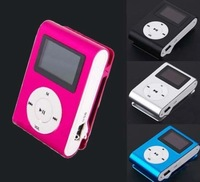 Free shipping +Tracking number New FM Radio,1 Inch LCD Screen,Mini Clip MP3 Music Player Micro SD/TF Card Slot
