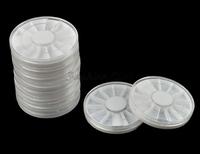 Brand 10 x Rotatable Container Nail Case Storage Art Empty Wheels Rhinestones Beads Slices Box 8330 Puntos de embotellado 8330