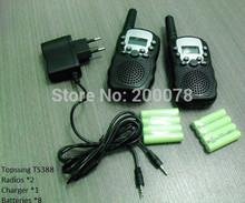 2014 portable radio walkie talkie pair T388 PMR FRS handy mobile radios CB system amateur radio