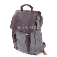 2014 New Arrival Fashion Crazy horse Leather Canvas Shoulder Bag,Vintage Men's And Women travel bags.Vintage Casual Backpacks