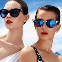 NEW 2014 IRIDIA cat eye brand sunglasses fashion women sunglasses k6306