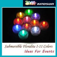 Super Bright Waterproof Underwater Single LED Submersible Multi-Colors Tea Lights