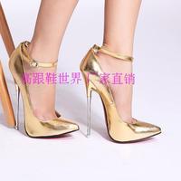 2014 16 fashion plus size sexy ultra high heels single shoes 1605