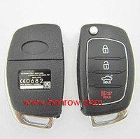 Free shipping -Plastic shell for Hyunda 3+1 button remote key blank&Key Shell /car key case