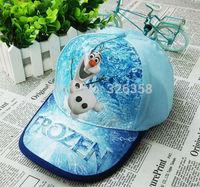 Retail Baby boys girls Frozen Baseball Cap/children cute Olaf  hats /kids Snow Queen sun caps sport caps