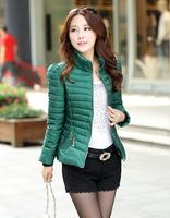 New 2014 Winter Cotton Down Jackets Women Fashion short Warm Jacket Black Clothing Casual Coat Plus Size L-3XL Women's