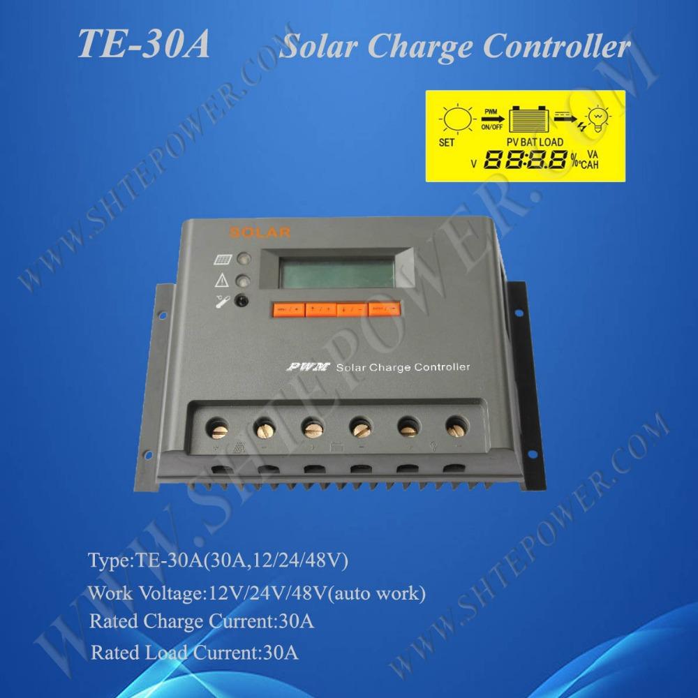30a solar charge controller 48v pwm solar 24v regulator(China (Mainland))