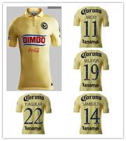 2015 Club America home  14/15 YELLOW Raul Sambueza M.LAYUN MICKY ss best quality player version soccer football jersey shirt