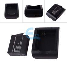 Home Travel Cradle Desktop Charger + 900mAh Battery for SJ4000 Camcorder Camera#61838(China (Mainland))