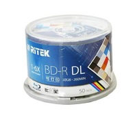 free shipping Ritek BD-R 50GB blue ray Disc inkjet Printable 6X  50pack