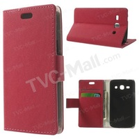 Free shipping 1pc/tvc-mall Maze Pattern Leather Magnetic Case w/ Stand for Samsung Galaxy Star 2 Plus SM-G350E