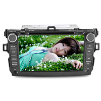 JOYOUS 8 inch 2 Din car DVD player for Toyota Colorra 2008-2011, built-in GPS,support BT/Radio/RDS/audio entertainment system