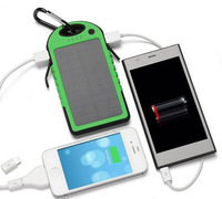 Universal Portable Waterproof Solar Charger 5000mah Power Bank for iPhone Samsung HTC iPad