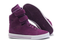 Shop High Tops Women Fur Supre TK Society Skate Shoes Purple Casual Flats Men Velcro Shoes Autumn Boots Running Sneakers On Sale