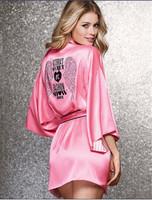 2014 Real Time-limited Freeshipping Solid Faux Dressing Gown Kimono Quarter Bathrobes Kimono Robes Bathrobe Nightgown