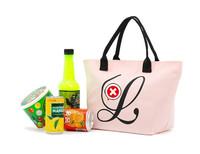 Free shipping 2014  Japanese magazine appendix light pink canvas handbag lunch bag super Cost-effective shopping bag