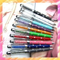 500pcs Wholesale 12cm Diamond Flower Crystal Capacitive Screen Stylus Touch Pen Ball Point For IPhone 6 5G 4S IPad,Tablet PC S4
