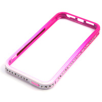 Luxury crystal color gradient drilling dazzle color metal Case  For iphone5 5s # C102094
