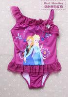 5PCS/SET Wholesale Frozen Red Swimsuit for girls children bathing suits kids swim suits frozen dress free shipping