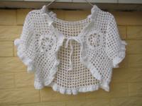 White Ruffles Bolero Jacket Wedding Bridal Shrugs Women Cute Cropped Tops