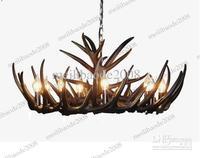 Artistic Black Antler Featured Chandelier With 9 Lights Dedicated Antler Chandeliers MYY5135