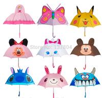 Wholesale .Long-handle Children Umbrella Gift Cute Cartoon Umbrellas For Kids 20 Styles