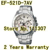 EF-521D-7AV NEW  Men's Chronograph Watch EF-521D 521D Gents Wristwatch white dial watch