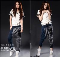 2014 fashion harem pants Casual Loose Baggy Crotch Collapse hip Hop Haram Pant Blending Trouser