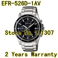 EFR-526D-1AV New  EFR-526D-1A Men's Chronograph Sport Watch EFR 526D 1AV black dial Wristwatch