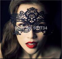 Hot Sale 1PC Sexy black  cut lace mask masquerade mask free shipping