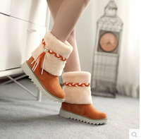 HOT SALE! 2014 Hot Fashion Super thick Warm winter Woman's snow boots shoes Over the Knee Boots