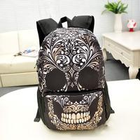 2014 New Nylon women backpack Skull and crossbones printed boys & girls fashional daily bags,SD002