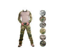 Outdoor Tactical military uniform clothing army of the combat uniform tactical pants with knee pads camouflage hunting clothes