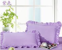 Free Shipping!! New Arrival Excellent 100% Cotton Material Zipper Style Solid  Color Pillow Case , 48cm*74cm Size, 2 pcs / lot