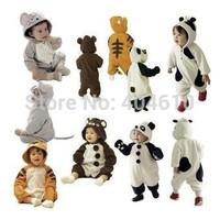 Retail ! HOT ! Polar fleece baby romper monolayer animal leotard spring and autumn  baby kids rompers children clothes ELZ-L0040