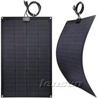 UK STOCK! 60W 12V Fiberglass Mono Semi Flexible Solar Panel, Wholesale,Factory directly,fast ship,