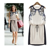 Free Shipping Lady Sleeveless dress make you look thin