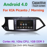 Pure Android 4.2 WiFi 3G Car DVD GPS Stereo For KIA Picanto Morning with Radio BT IPOD 1080P TV Capacitive Screen Free maps