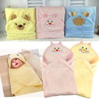 Newborn baby was coated coral fleece baby blankets baby supplies wholesale 75X75 cm