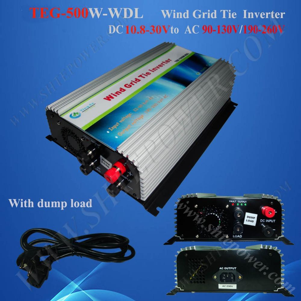 wind grid inverters 500w dc 12v 24v to ac 110v 220v wind grid tie inverter(China (Mainland))
