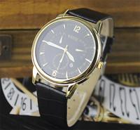 New Style High quality leather strap watch men fashion dress quartz watch man sport watches
