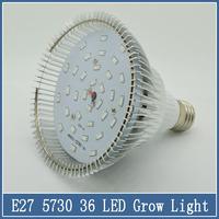 1x E2715/25W 24/36 LED Spotlight Grow Lamp AC 85V-265V Flower Hydroponics System SMD 5730 Greenhouse Nursery Lighting Plant Bulb