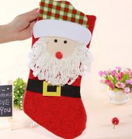 GAGA !Free shipping shipping high quality beautiful and lovely cartoon santa claus christmas gift stocking,40pcs/lot,YS1-11