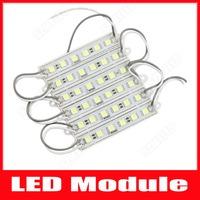 100pcs 6 LED Module 5050 SMD 12V Waterproof IP65 Cool Warm White Ultra Bright LED Advertising Light Free Shipping