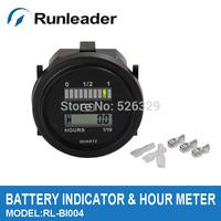 QUARTZ LED Battery Indicator Digital Hour Meter for DC Powered Unit  12V&24V,24V,36V,48V,72V