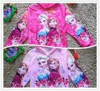 Freeshipping 2014 Hot And New Frozen Elsa & Anna Children coat For children's gift No 812