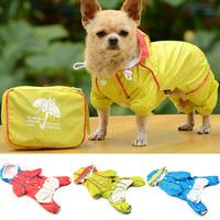 Hot Pet Dog Hoodie Jacket Raincoat Waterproof Rain Coat Slicker Jumpsuit Clothes Free Shipping