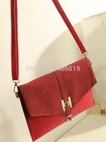 2014 new promotional retro bag of mixed colors matte stuffed envelope shoulder bag diagonal handbags13259 free to send