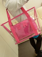 free shipping!cheap brand designer bag transparent bag women's handbag beach bag waterproof bag crystal shoulder bag